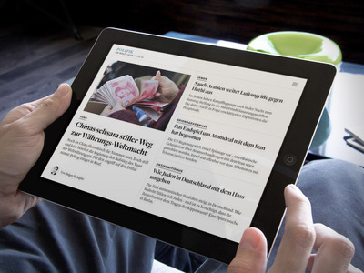 Welt news app – Frontend development for a hybrid app for Android and iOS using AngularJS, BEM and Karma